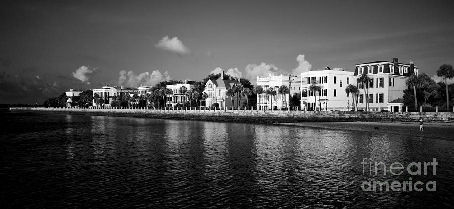 Battery Row Photograph - Charleston Battery Row Black And White by Dustin K Ryan