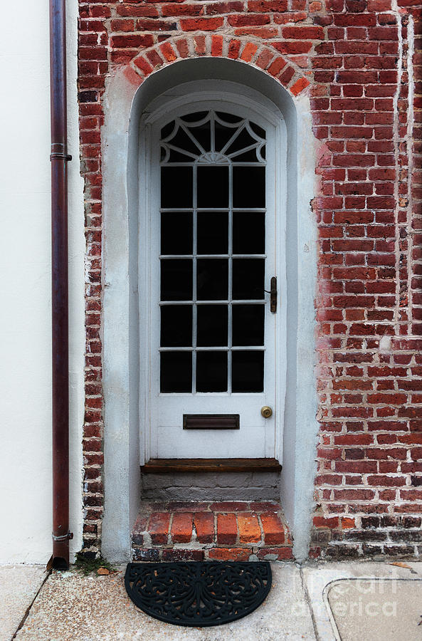 Charleston Brick Entrance To Historic Downtown Charleston South Carolina Photograph