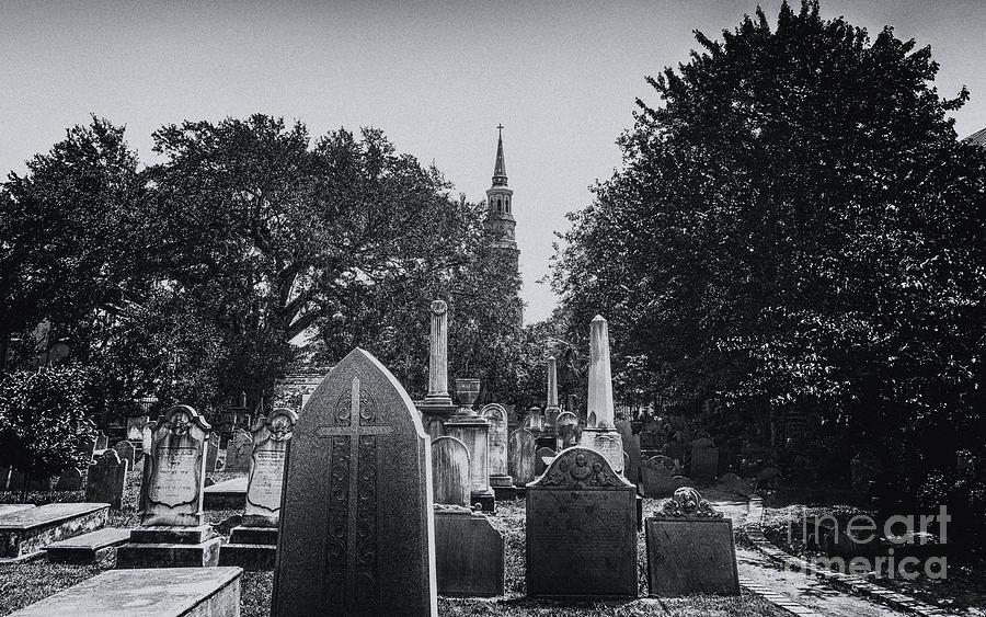 Charleston Churches And Cemeteries Photograph
