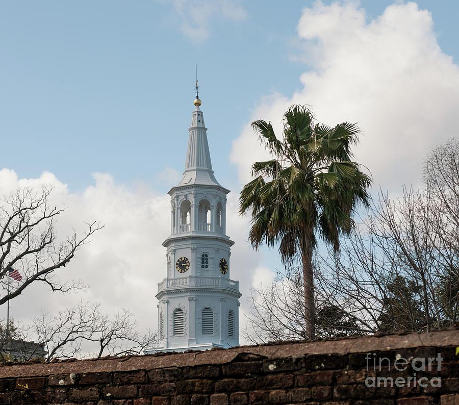 Charleston Historic Church Bell Tower Photograph
