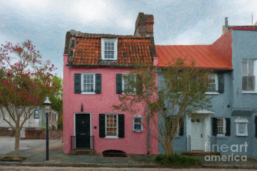 Charleston Pink House Charm Photograph