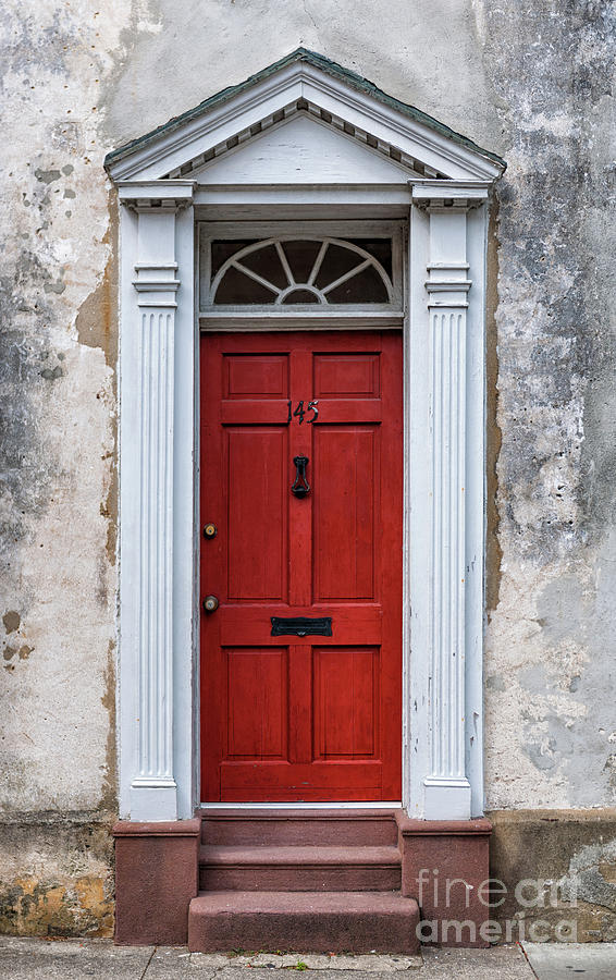 Charleston Red Door Stateliness Photograph