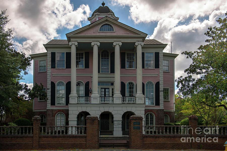 Charleston South Carolina Faber House On East Bay Street Photograph