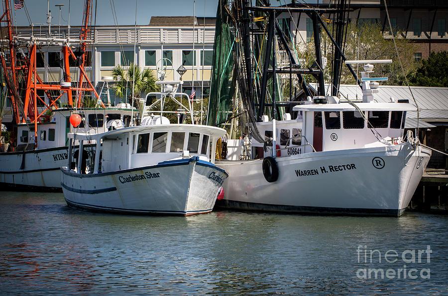 Charleston Star Shrimp Boat Docked On Shem Creek Photograph