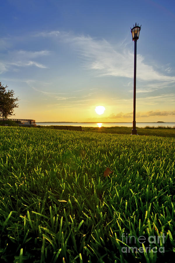 Charleston Photograph - Charleston Waterfront Park Sunrise 3 by Dustin K Ryan