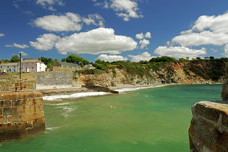 Charlestown Beach And Cliffs Photograph