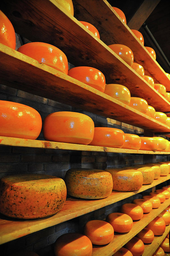 Cheese Photographs Photograph - Cheese In Holland by Harry Spitz