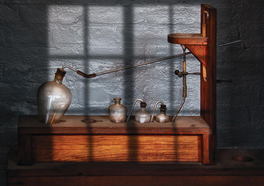 Savad Photograph - Chemist - The Science Experiment by Mike Savad