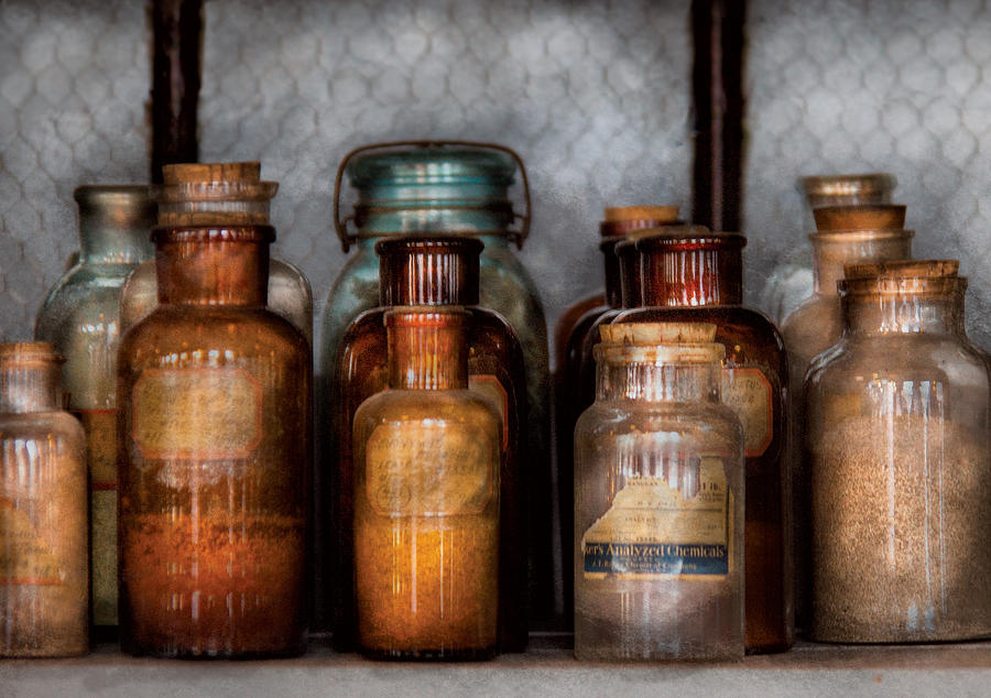 Savad Photograph - Chemist - Various Chemicals by Mike Savad