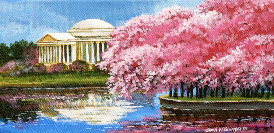 Washington Dc Painting - Cherry Blossom Festival by Sarah Grangier