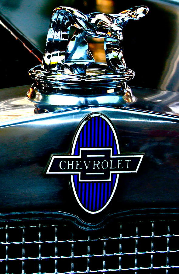 Photograph Of Chevrolet Hood Ornament Photograph - Chevrolet Hoodie by Gwyn Newcombe