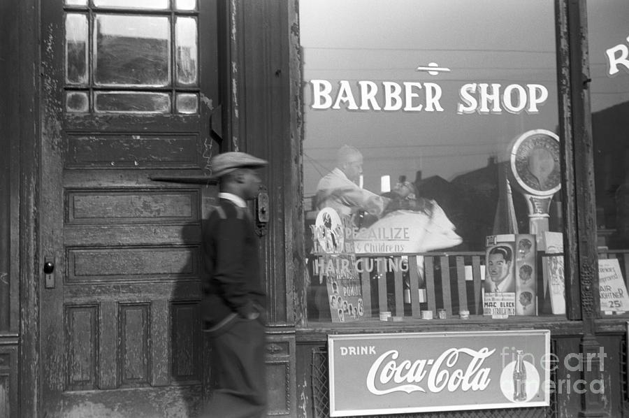 Chicago: Barber Shop, 1941 Photograph