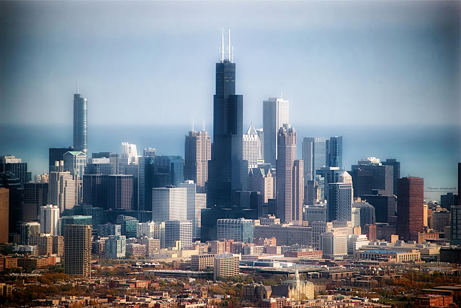 Chicago Photograph - Chicago Looking East 02 by Thomas Woolworth