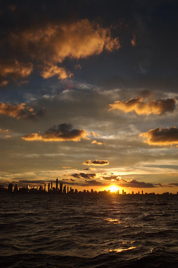 Boat Photograph - Chicago Skyline Sunset by Steve Gadomski