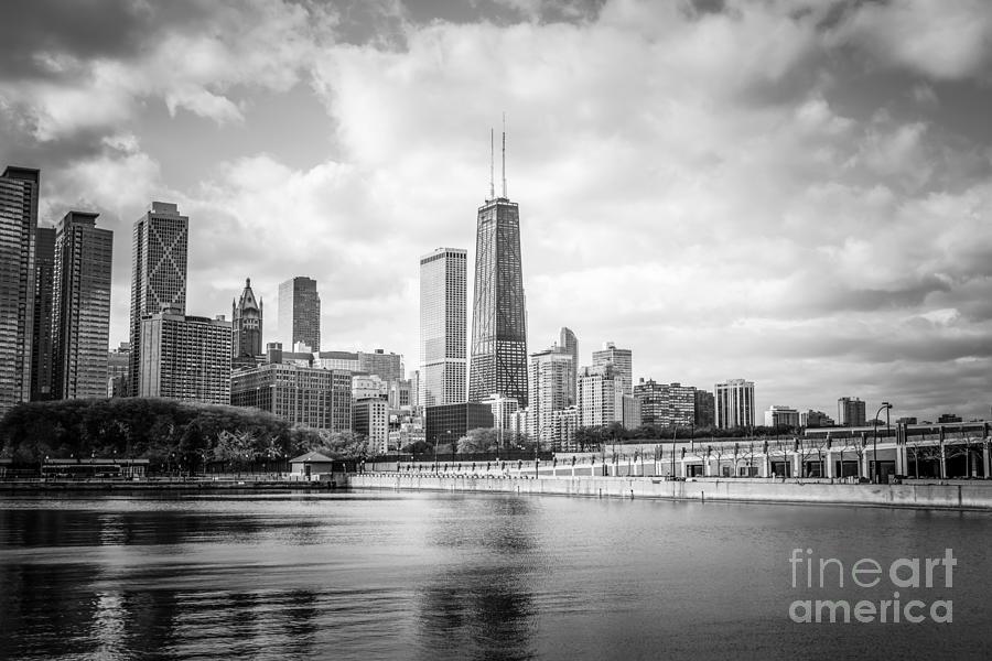 Chicago Skyline With John Hancock Building Photograph