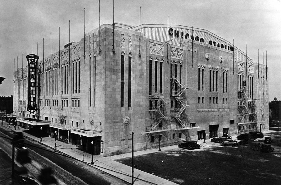 1930s Candid Photograph - Chicago Stadium, Chicago, Illinois by Everett