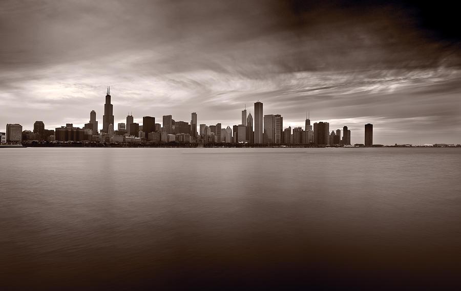 Chicago Photograph - Chicago Storm by Steve Gadomski