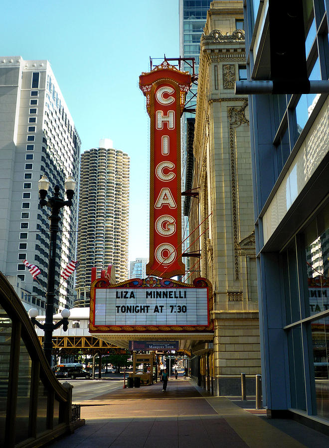 Chicago Theater Marquee Photograph - Chicago Theater - 1 by Ely Arsha