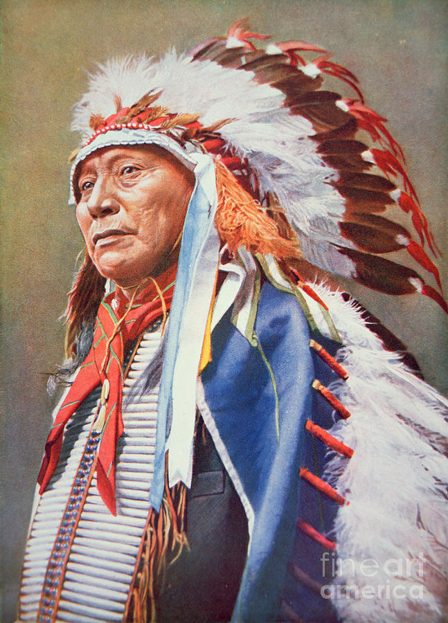 Chief Painting - Chief Hollow Horn Bear by American School
