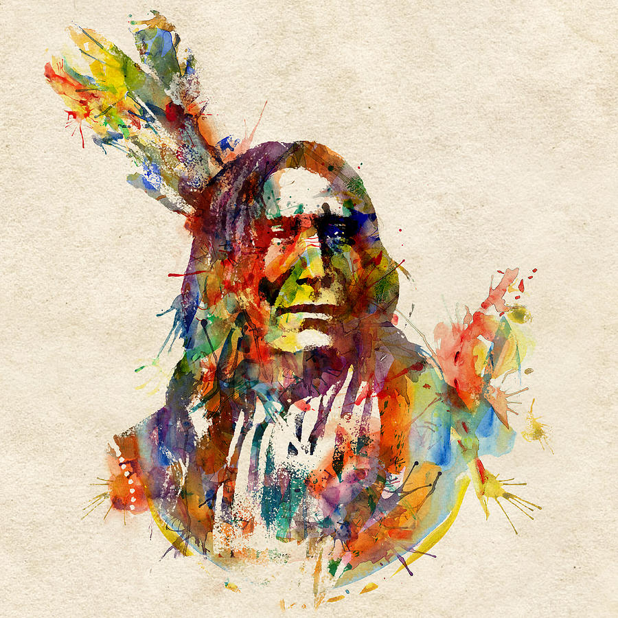 Chief Mojo Watercolor Digital Art By Marian Voicu