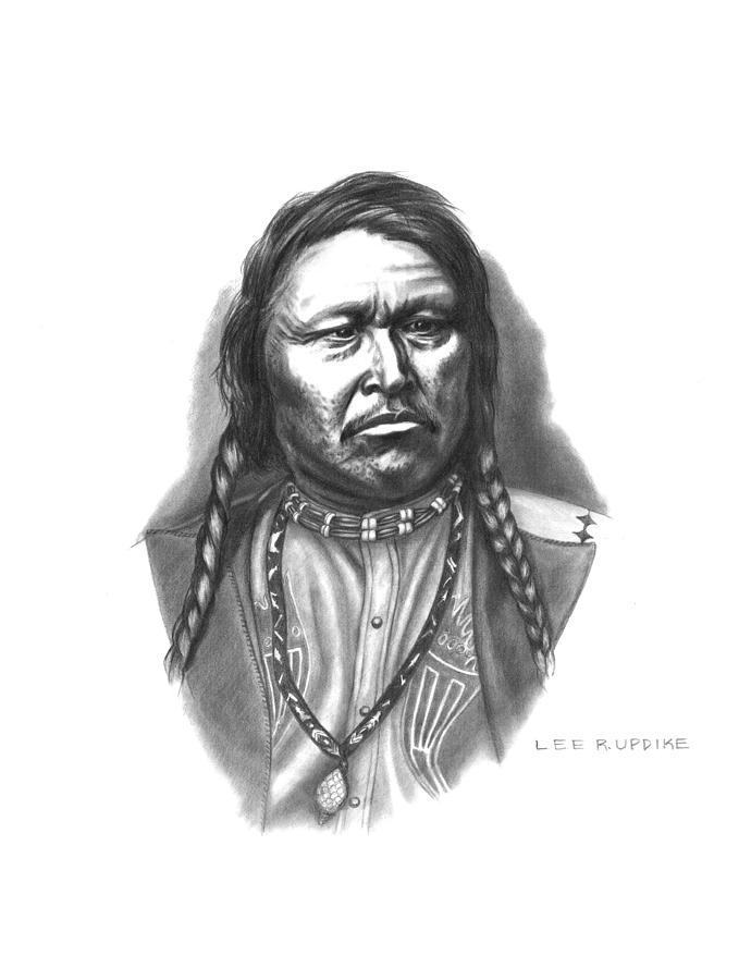 Chief Ouray Drawing - Chief Ouray by Lee Updike