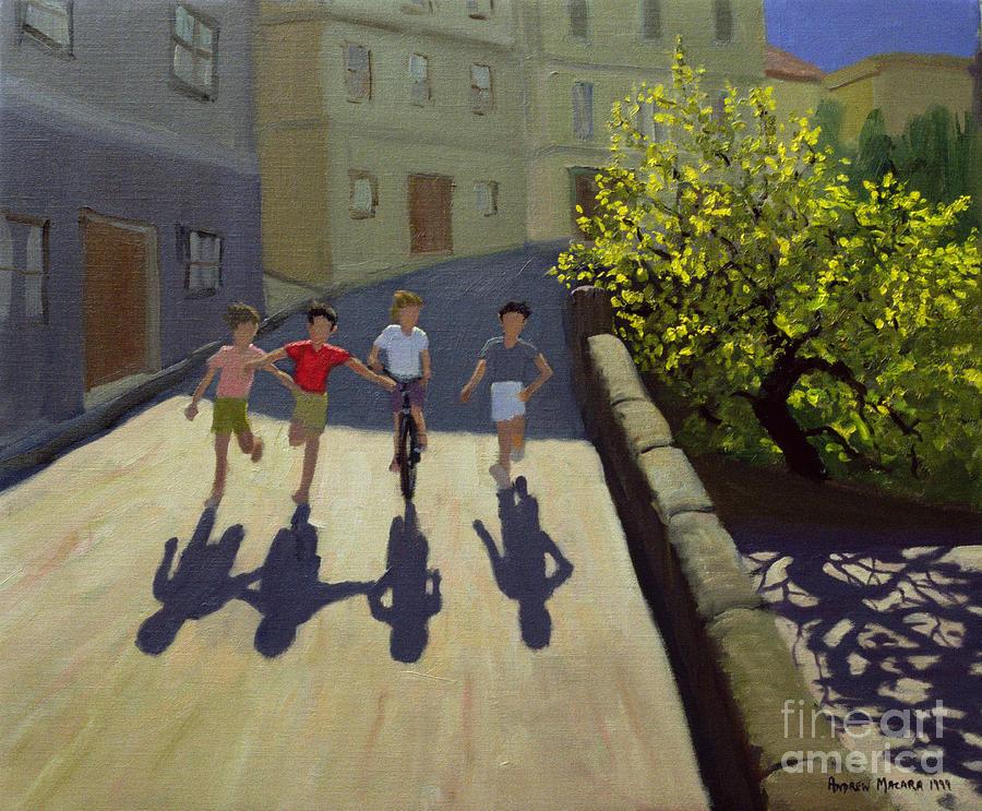 Run Painting - Children Running by Andrew Macara