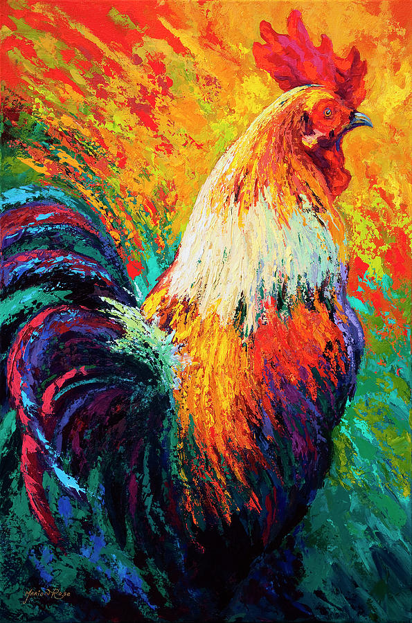 Rooster Painting - Chili Pepper by Marion Rose