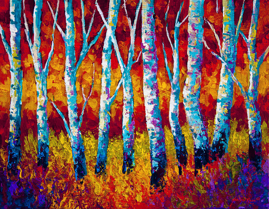 Trees Painting - Chill In The Air by Marion Rose
