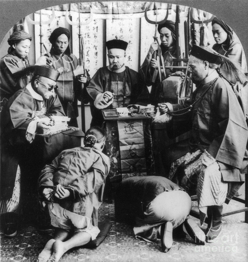 1900 Photograph - China: Boxer Trial, C1900 by Granger