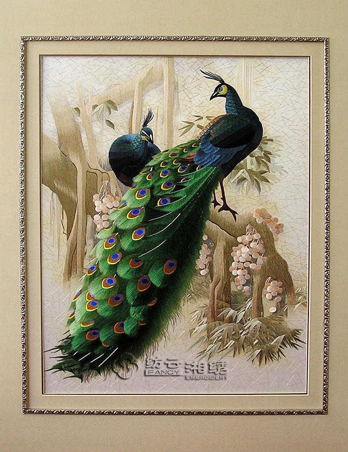 Chinese Hand Silk Embroidery Artwork Painting By Belinda