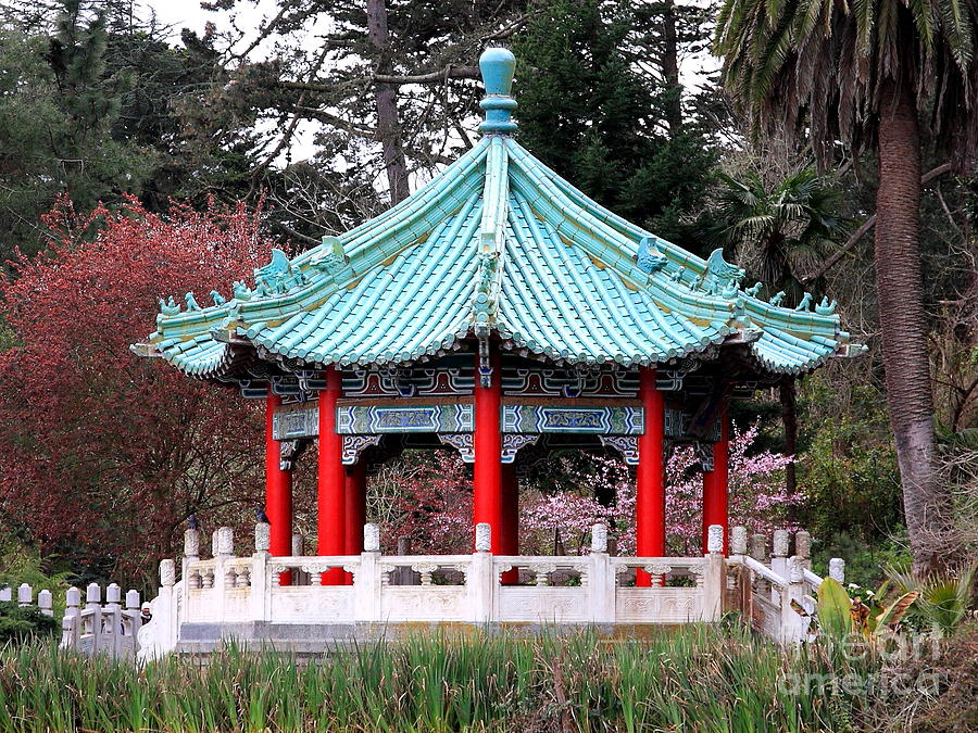 Chinese Photograph - Chinese Pavilion by Wingsdomain Art and Photography