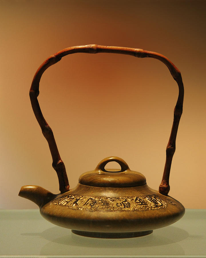 Antique Photograph - Chinese Teapot - A Symbol In Itself by Christine Till