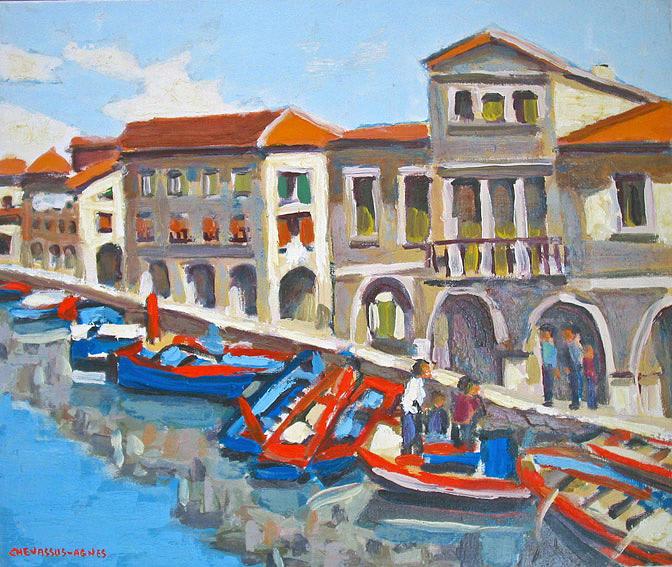 Chioggia Italy  city photos : Italy Painting Chioggia Market Italy by Chevassus agnes Jean pierre
