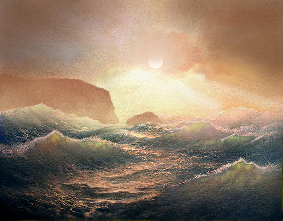 Sea Painting - Chop by Robert Foster