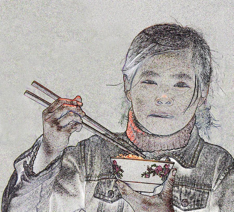 Vietnam Photograph - Chopsticks And Rice by Jim Justinick