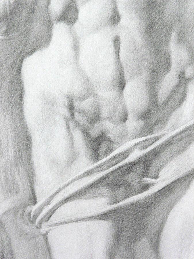 Nude Drawing - Christ 1c by Valeriy Mavlo