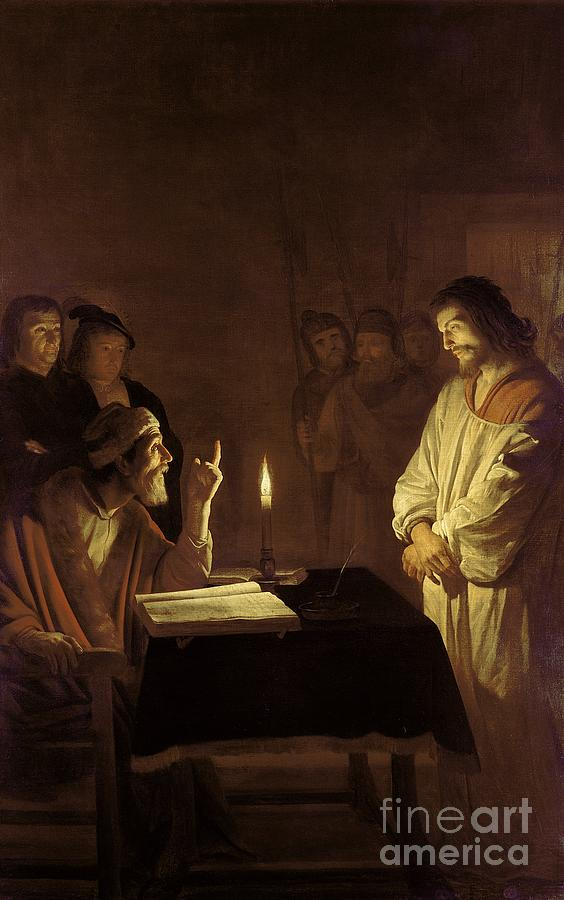 Christ Painting - Christ Before The High Priest by Gerrit van Honthorst