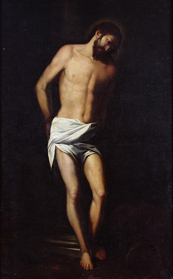 Christ Bound To The Column Painting
