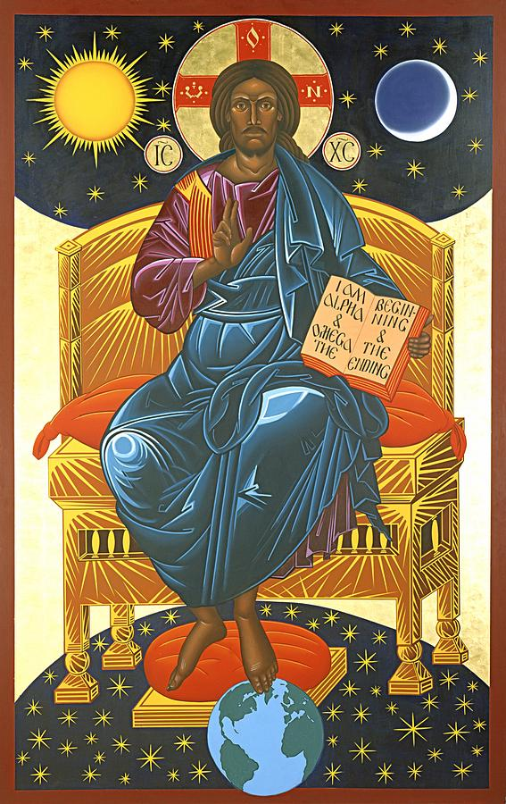 Christ Painting - Christ Enthroned Icon  by Mark Dukes