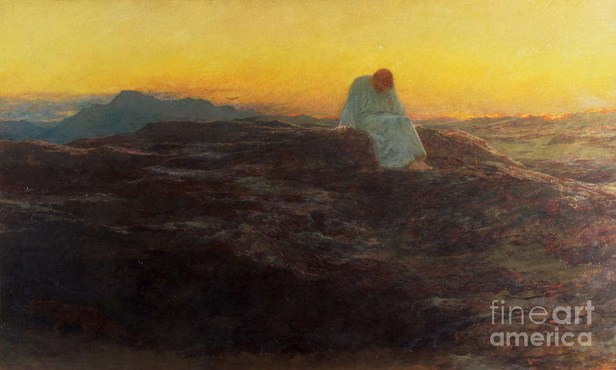 Christ In The Wilderness Painting - Christ In The Wilderness by Briton Riviere