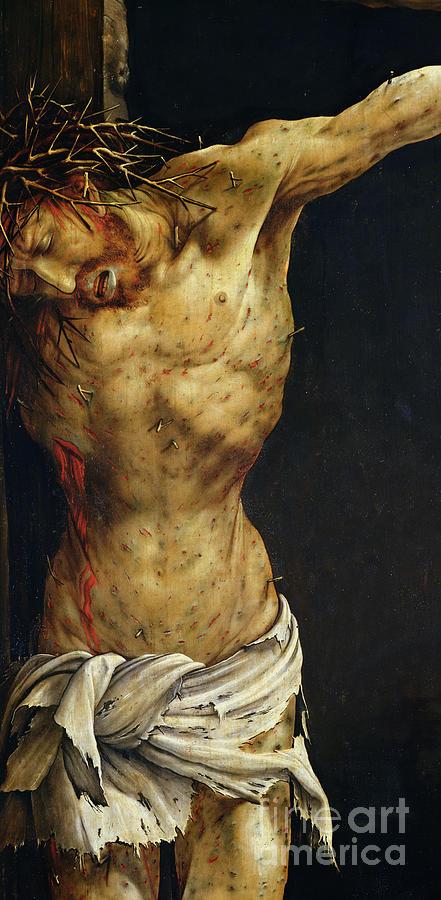 Jesus Painting - Christ On The Cross by Matthias Grunewald