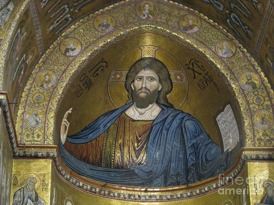 Christ Pantocrator Photograph - Christ Pantocrator by Erik Falkensteen