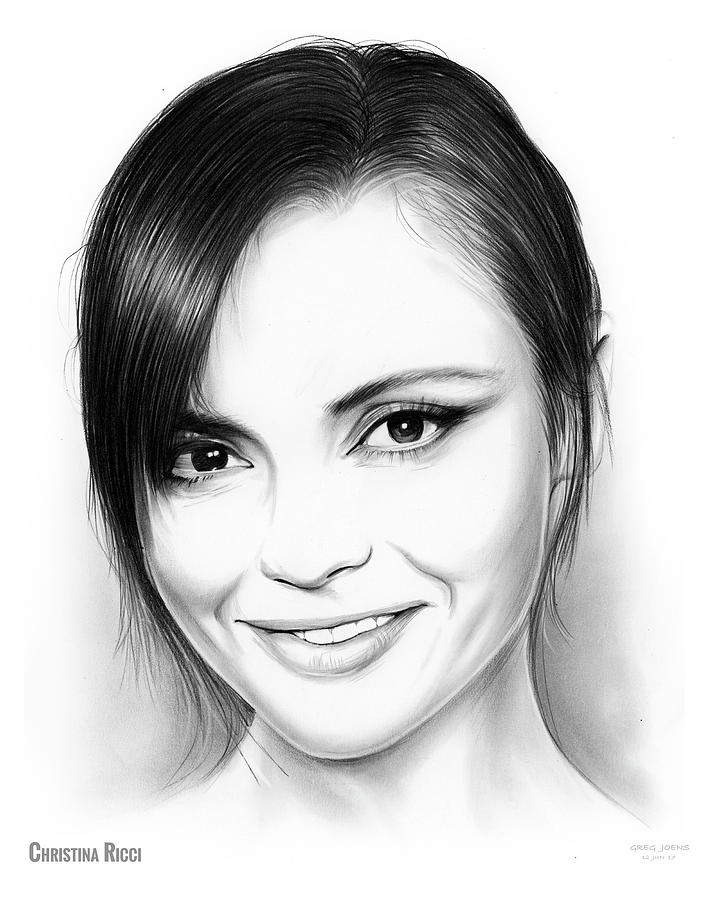 Christina Ricci Drawing