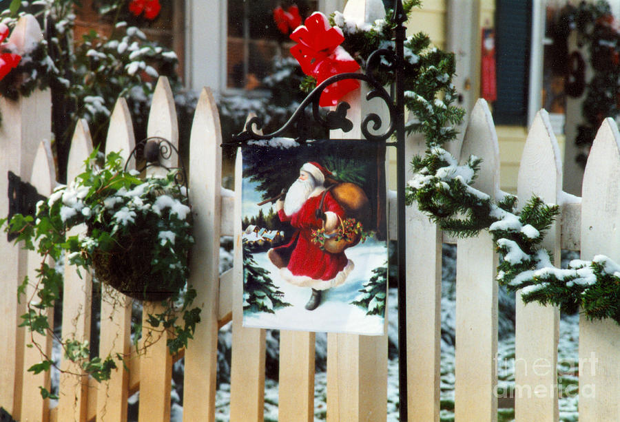 Christmas Flag Photograph