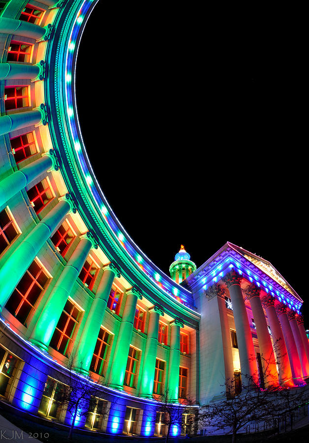 Christmas Lights Photograph - Christmas Lights Of Denver Civic Center Park by Kevin Munro