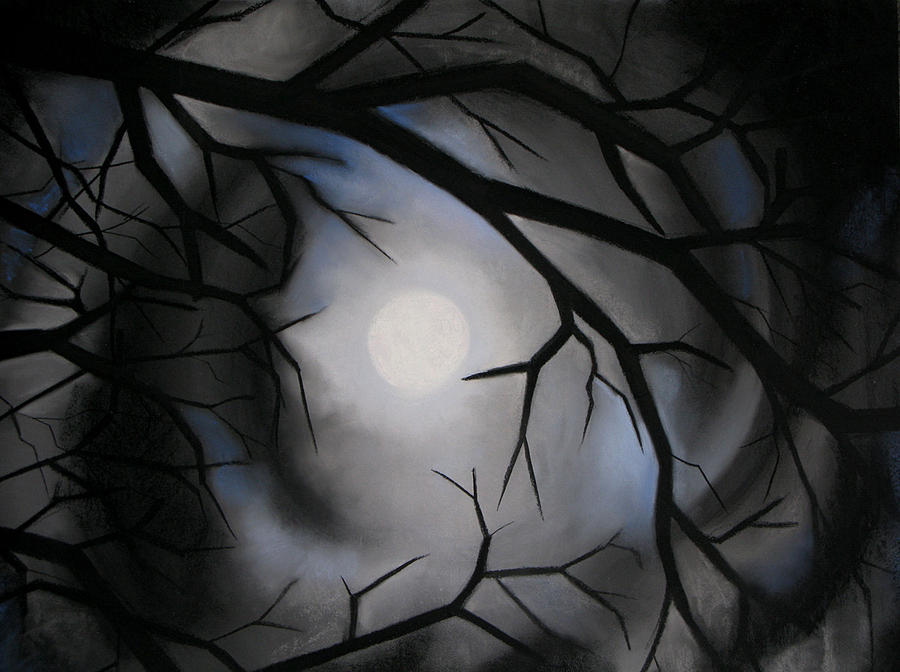 Moon Pastel - Christmas Night by Candice Wright
