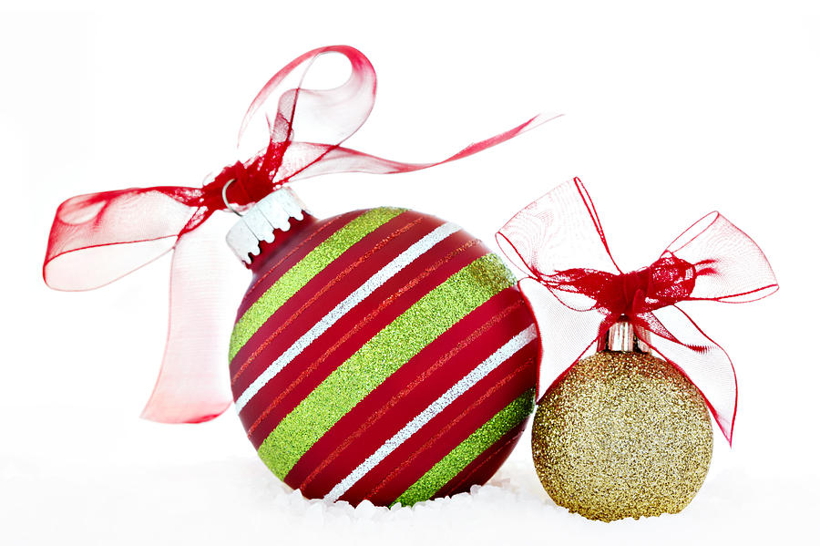 Christmas red and green gold ball ornaments with red for Red and green christmas decorations
