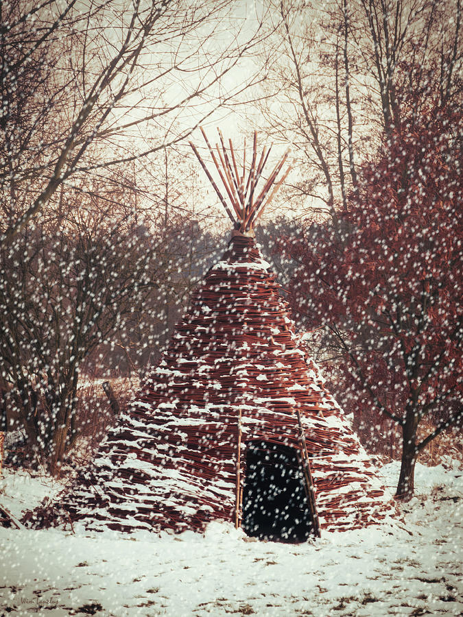 Winter Photograph - Christmas Tent by Wim Lanclus