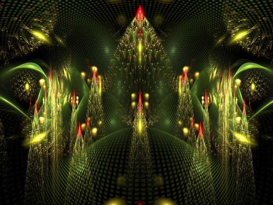 digital art christmas tree - photo #16