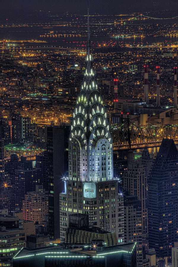 Chrysler Building At Night Photograph by Jason Pierce ...